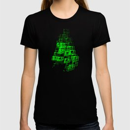 "Christmas Tree | ""Cubes"" | Green | [D7780~39_005] T-shirt"