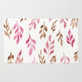 180726 Abstract Leaves Botanical 20 |Botanical Illustrations Rug