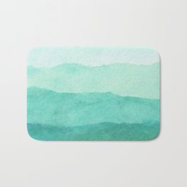 Ombre Waves in Teal Bath Mat