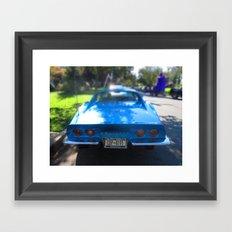 Corvette Blue Framed Art Print
