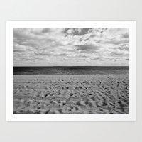 Footprints to the Ocean Art Print
