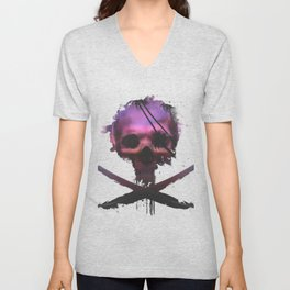 Purple Death Unisex V-Neck
