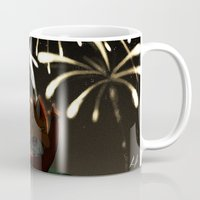 fireworks Mugs featuring Fireworks! by Pencil Box Illustration
