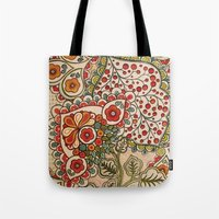paisley Tote Bags featuring paisley by Love on a Bike