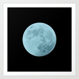 BLUE MOON // BLACK SKY Art Print