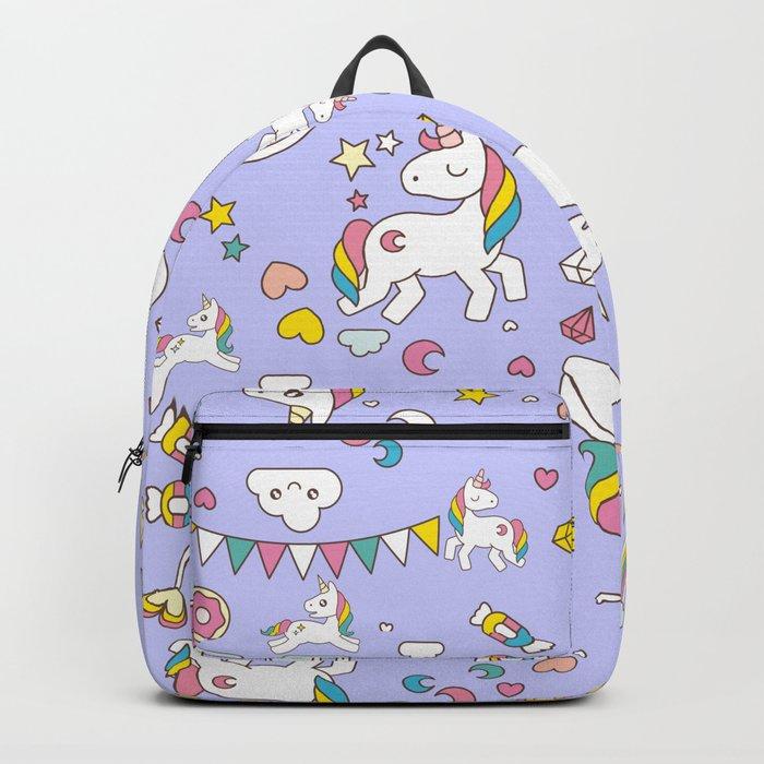 Unicorn Lilac Pattern Backpack