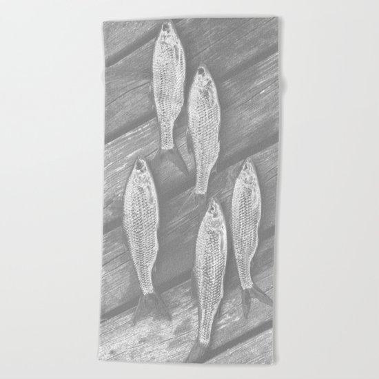 Five Fish  Beach Towel