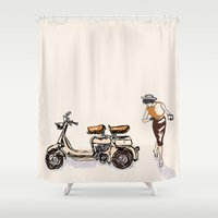 60s Shower Curtains featuring Fashion statement of the 60s! by Classic Chase