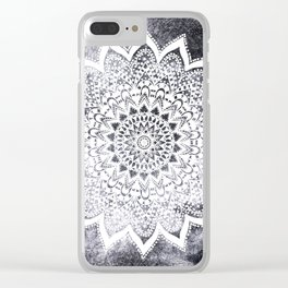 BOHO WHITE NIGHTS MANDALA Clear iPhone Case