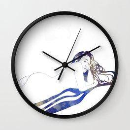 Water Nymph II Wall Clock