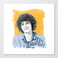 tim shumate Canvas Prints featuring Tim Buckley by Daniel Cash