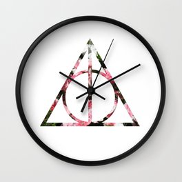 The Girly & Deathly Hallows Wall Clock