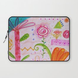 Palm and Florals Illustration by Paisley in Paris™ Laptop Sleeve