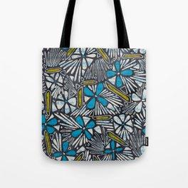 Asha Floral - Blue Tote Bag