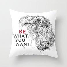 Portrait of a Forgotten Girl. Throw Pillow