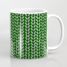 Forest Green Knit Coffee Mug