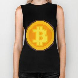 Pixel art Bitcoin coin Biker Tank