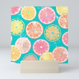 Juicy Grapefruit Slices Mini Art Print