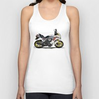honda Tank Tops featuring 1982 Honda CX500TC Turbo by Saddle Bums