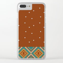 Pattern in Grandma Style #48 Clear iPhone Case