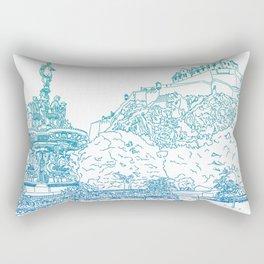 Princes Street Gardens Rectangular Pillow