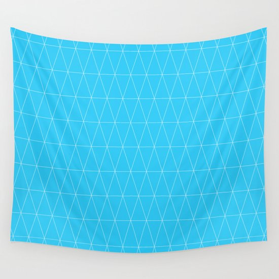 Simple Geometric Triangle Pattern- White on Teal - Mix ...