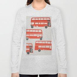 London Double Decker Red Bus Long Sleeve T-shirt
