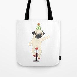Circus pug Tote Bag