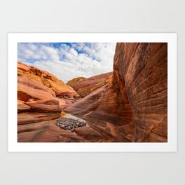 After The Rain - 6, Valley_of_Fire Canyon, Nevada Art Print