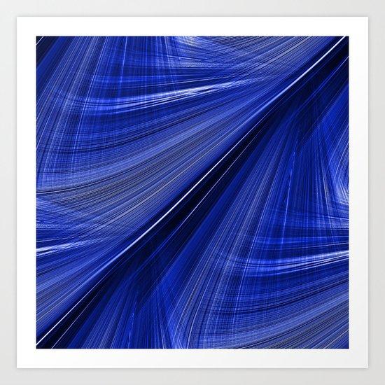 Indigo Blue Electric Highway Art Print