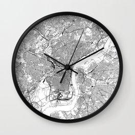 Philadelphia White Map Wall Clock
