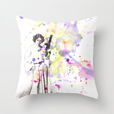 Princess Leia From Star Wars Throw Pillow