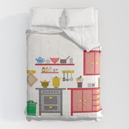 a kitchen Comforters