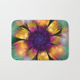 Artistic magical fantasy flower Bath Mat