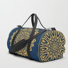 Gold floral mandala Duffle Bag