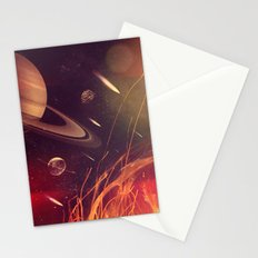 Space Fire Stationery Cards