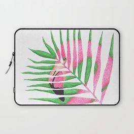 Pink Flamingo Palm Leaf Laptop Sleeve