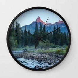 Pilot Peak - Mountain Scenery at Sunrise in Northeastern Yellowstone Wall Clock