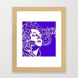 """Koloman (Kolo) Moser """"Girl's head"""" (1) Framed Art Print"""