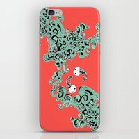 pisces iPhone & iPod Skins featuring Pisces by LindsayMichelle