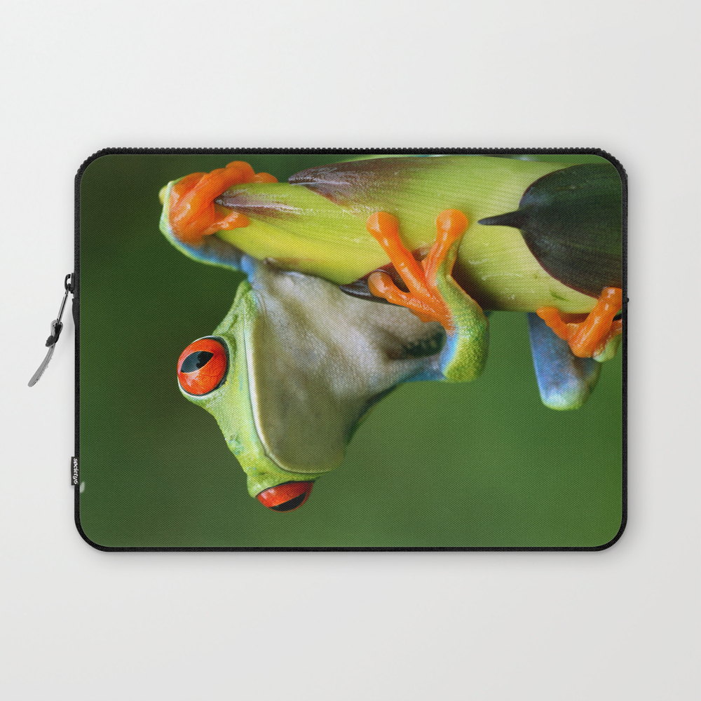 Curious Red-eyed Tree Frog Laptop Sleeve LSV990517