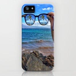 Hawaii Sunglasses Palmtrees iPhone Case