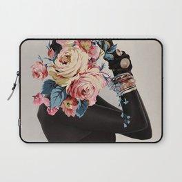Black of flowers Laptop Sleeve