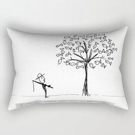 more fish in the tree Rectangular Pillow