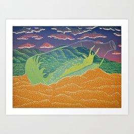 Santa Cruz Nudibranch Art Print