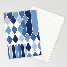 STRIPED DIAMONDS: NAVY Stationery Cards