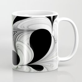 Abstract Black and White with Green Coffee Mug