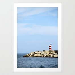 Sea Blocks Art Print