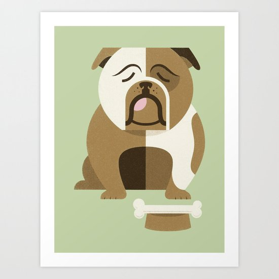 Bulldog - Green Variant Art Print