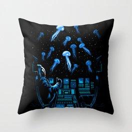 Astronaut Jellyfish Throw Pillow